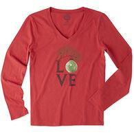 Life is Good Women's Love Ornament Sleep Vee Shirt