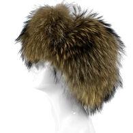 Mitchies Matchings Women's Raccoon Fur Trooper Hat