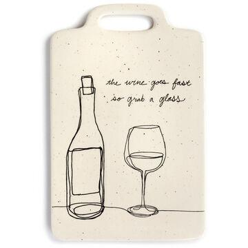 DEMDACO Wine Glass Cheese Board