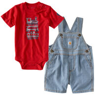 Carhartt Infant/Toddler Boys' Making Tracks Shortall Set, 2pc