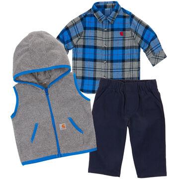 Carhartt Infant/Toddler Boys Flannel Gift Set, 3pc