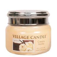 Village Candle Small Glass Jar Candle - Creamy Vanilla