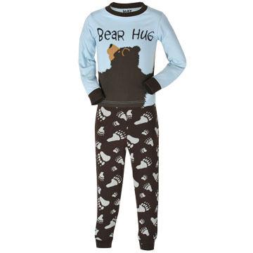 Lazy One Toddler Boys' & Girls' Bear Hug PJ Set
