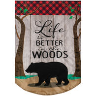 Carson Home Accents Better In The Woods Double Appliqué Garden Flag