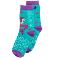 Karma Women's Seas The Day Mermaid Crew Sock