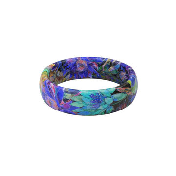 Groove Life Womens Aspire Twilight Blossom Thin Silicone Ring