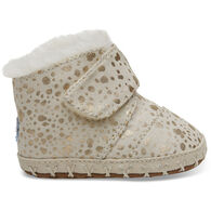 TOMS Infant's Gold Foil Snow Spots Tiny Toms Cunas