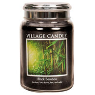 Village Candle Large Glass Jar Candle - Black Bamboo