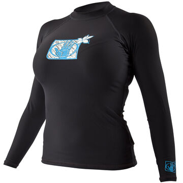 Body Glove Womens Basic Lycra Long-Sleeve Rashguard