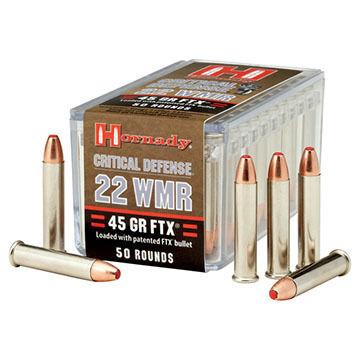 Hornady Critical Defense 22 WMR 45 Grain FTX Rimfire Ammo (50)