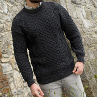Aran Crafts Men's & Women's Inis Mor Aran Crew Neck Sweater