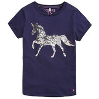 Joules Girl's Astra Applique Short-Sleeve T-Shirt