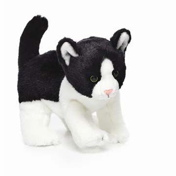 Nat & Jules Plush Black & White Cat