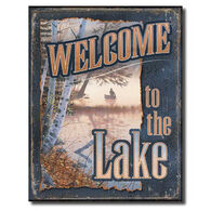 Wild Wings Welcome To The Lake Tin Sign