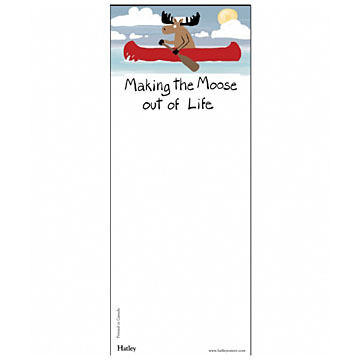 Hatley Canoe Making the Moose Out of Life Magnetic List Notepad