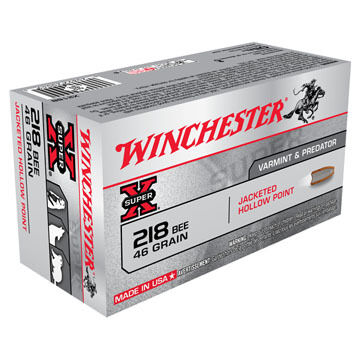 Winchester Super-X 218 Bee 46 Grain Jacketed Hollow Point Rifle Ammo (50)