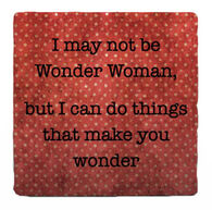 Paisley & Parsley Designs Wonder Women Marble Tile Coaster