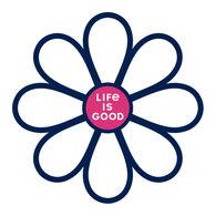 Life is Good Simple Daisy Die Cut Sticker