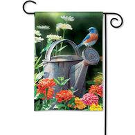 BreezeArt Garden Bluebird Garden Flag