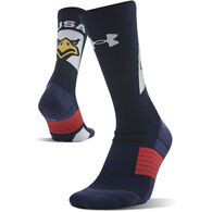 Under Armour Men's UA Unrivaled American Crew Sock