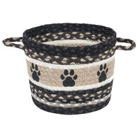 Capitol Earth Paw Prints Braided Small Utility Basket