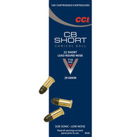 CCI CB 22 Short 29 Grain Low Noise LRN Rimfire Ammo (100)