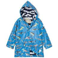 Hatley Toddler Boy's Deep Sea Sharks Color Changing Raincoat
