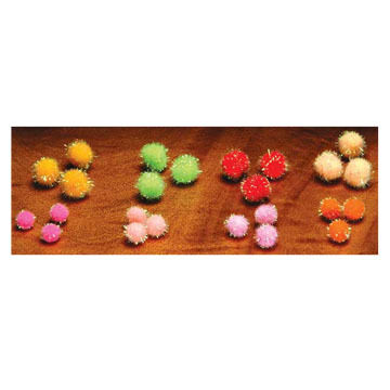Hareline Krystal Glo Ball Fly Tying Material - 12 Pk.