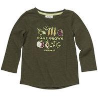 Carhartt Toddler Girl's Home Grown Veggies Long-Sleeve Shirt