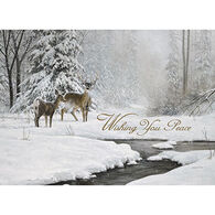 LPG Greetings Deer Couple Near A Stream Boxed Christmas Cards