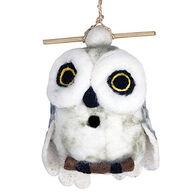 Wild Woolies Snowy Owl Hand-Felted Birdhouse