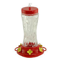 Audubon Swirl Glass Hummingbird Bird Feeder