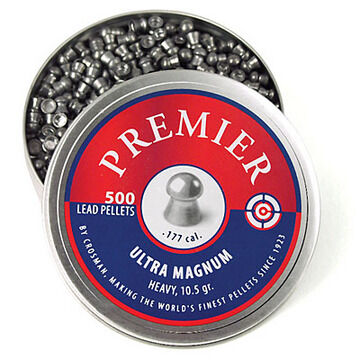 Crosman Premier 177 Cal. 10.5 Grain Ultra Magnum Domed Lead Pellet (500)