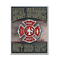Desperate Enterprises Real Heroes Firemen Tin Sign