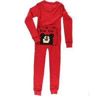 Lazy One Toddler Bear Bum Flap Jack Union Suit