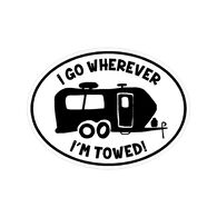 Sticker Cabana Towed Camper Sticker