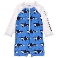 Snapper Rock Swimwear Infant Boy's Orca Ocean Long-Sleeve Sunsuit