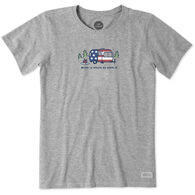 Life is Good Women's Americana Camper Vintage Crusher Short-Sleeve T-Shirt