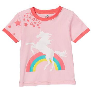 Doodle Pants Toddler Girls Rainbow Unicorn Short-Sleeve T-Shirt
