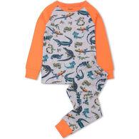 Hatley Toddler Boy's Rambunctious Reptiles Organic Cotton Raglan PJ Set