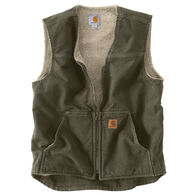 Carhartt Men's Big & Tall Sandstone Rugged Sherpa-Lined Vest