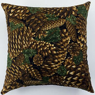 "Moosehead Balsam Fir 7"" x 7"" Pine Cone Pillow"