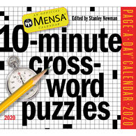 Mensa 10-Minute Crossword Puzzles 2020 Page-A-Day Calendar by Stanley Newman