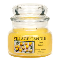 Village Candle Small Glass Jar Candle - Fresh Lemon