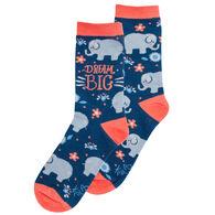 Karma Women's Elephant Crew Sock