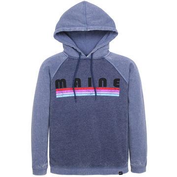 Techstyles Womens Maine Linear Letter Sweatshirt