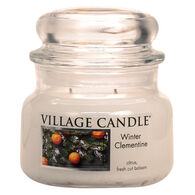Village Candle Small Glass Jar Candle - Winter Clementine