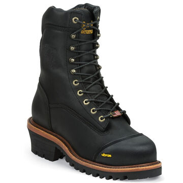 Chippewa Mens 9 Black Oiled Leather Composite Toe Waterproof Insulated Work Boot, 400g