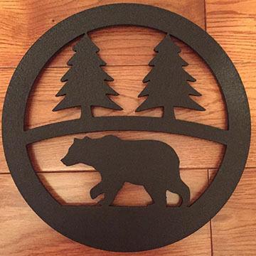 Sherwood Products Black Bear Steel Trivet