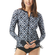 Beach House - Swimwear Anywear Women's Diamond Daze Ava Zip Front Rash Guard